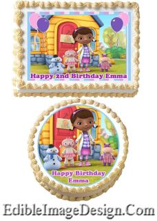 Doc McStuffins Edible Birthday Cake Image Decoration Cupcake Topper