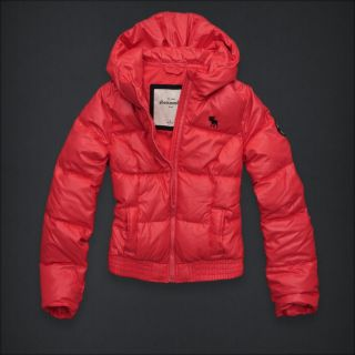 Abercrombie Fitch Fallon Orange Girls Coat M $100