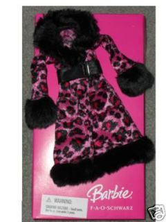 FAO SCHWARZ EXCLUSIVE PINK LEOPARD PRINT BARBIE COAT