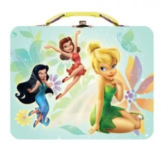 New Tinkerbell Tin Tote Disney Peter Pan Toy Metal Carry All Box Girls