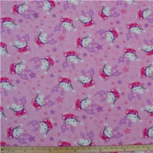 hello kitty super soft fleece fabric by the yard