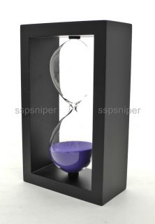 Simple Design Wooden Frame 60 Minutes Hourglass Sand Timer HG02