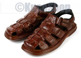 aldo men leather fisherman sandals shoes brown 7