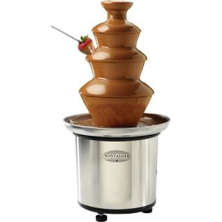 Tier Fondue Fountain Stainless Steel Chocolate Cheese