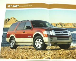 2008 08 Ford Expedition Truck SUV Brochure El Eddie XLT