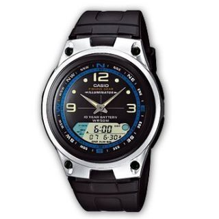 1AV Mens Chronograph Alarm Analog Digital Fishing Gear Watch