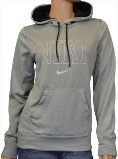 Nike Womens Therma Fit Hoodie Sweatshirt Gray