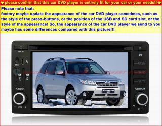 Subaru Forester Car DVD Player GPS Navigation in Dash Stereo Radio