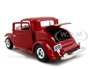1932 Ford Coupe Red 1 24 Diecast Model Car by Motormax 73251