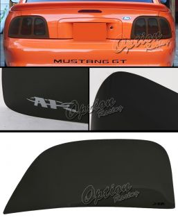 94 98 Ford Mustang Smoke Tint Tail Light Cover Driver Passenger Side