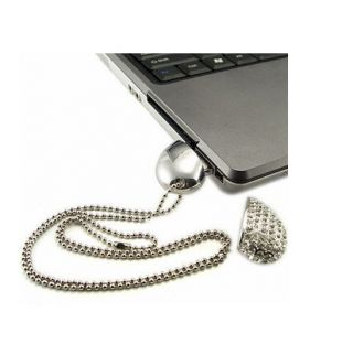 16 GB Crystal Heart Necklace USB Flash Drive
