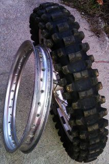 2007 Honda CRF450 CRF 450R CRF450R Rear Wheel Tire Rim Hub Disc 2002
