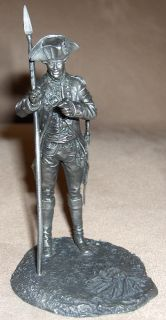 1976 Franklin Mint Fine Pewter Figure OFFICER 3RD New York Regiment