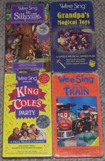 Wee Sing Lot of 4 Videos VHS Grandpas Magical Toys King Coles Party