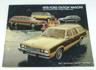 78 ford station wagon size is 8 1 2 x 11 the brochure is in good