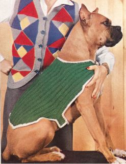 Vintage Dog Sweater Coat Blanket knitting pattern