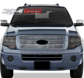 FITS FORD EXPEDITION 2007 2011 CHROME BILLET GRILLE OVERLAY  TOP ONLY