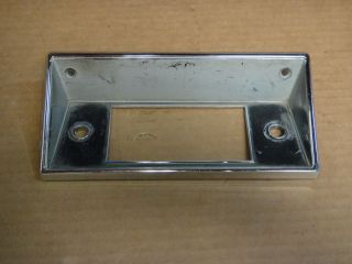 1968 1972 FORD TRUCK USED RADIO CHROME FACE PLATE BEZEL FoMoCo # C8TA