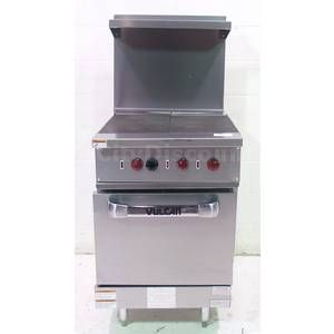 VULCAN EV24S Y3S COMMERCIAL STAINLESS ELECTRIC FLAT TOP RANGE OVEN
