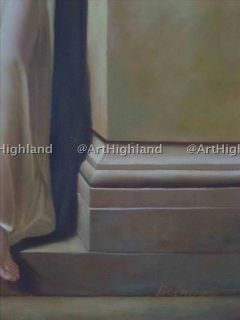 Frederick Leighton Antique Portrait Oil Painting Canvas