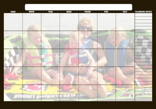 Photo Refrigerator Calendar 15 One Month Plus Dry Erase Pen
