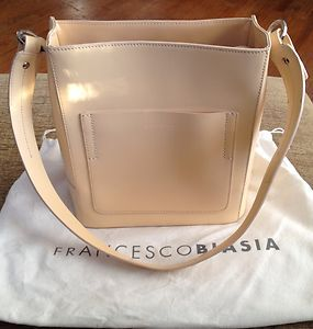 Francesco Biasia Vintage Beige Leather Single Strap Handbag