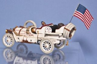 Franklin Mint 1907 Thomas Flyer New York to Paris American Flag