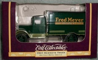 1931 Hawkeye Die Cast Metal Bank Truck Fred Meyer 1 34 Scale
