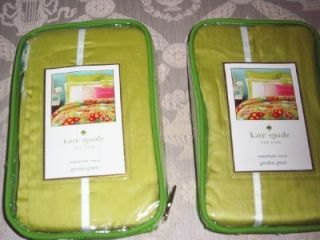 Kate Spade Garden Grove Chartreuse Green Euro Pillow Shams