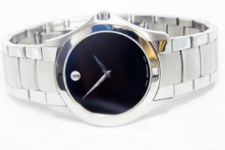 Mens Stainless Steel Movado Museum Watch 84 G2 1855