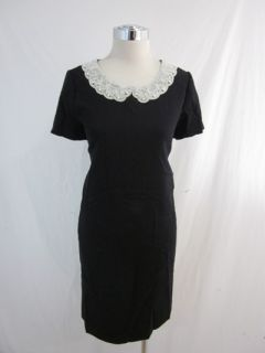 New Kate Spade Black Pearl Madeleine Gail Dress 8 Med