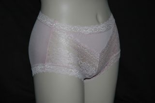 Womens Super Stretch Spandex Panty Trimmed Floral Lace