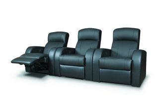 Black Theater Recliners Reclining Chairs Seating Row