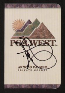 Jim Furyk Signed Autograph Auto PGA West Scorecard