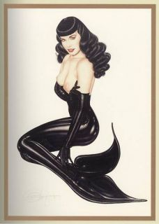 Olivia de Beradinas Lithograph Up Periscope Bettie Page