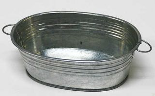 Galvanized Oval Wash Tubs 6 Tubs Weddings Baby Showers Candles Favors
