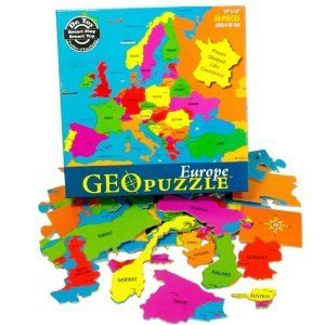Geo Puzzle Europe Kids Educational Map Jigsaw Puzzle