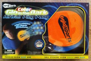 Oglo Sports Color Glo in the Dark Glo Airball Ping Pong table tennis