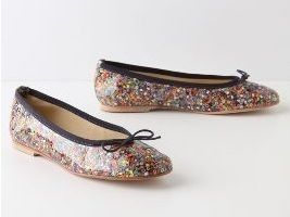 French Sole FS NY Soleprints Anthropologie Bead Illusion ballet flats