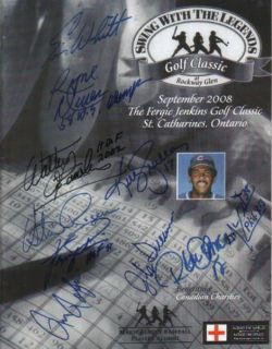 Roberto Alomar Fergie Jenkins Autographed Golf Program in Person