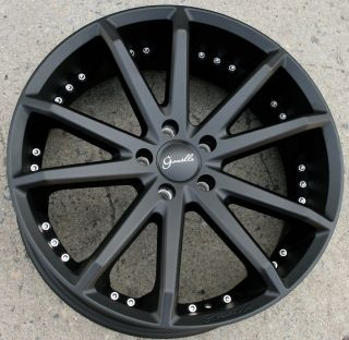 Gianelle Spidero 5 20 Black Rims Wheels Honda Odyssey Pilot 20 x 8 0