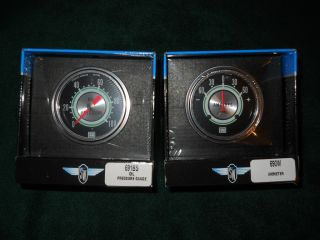 Warner 2 5 8 Oil Amp Green Line Gauges Used in Shelby and Yenko