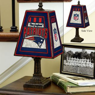 click an image to enlarge new england patriots logo art glass table