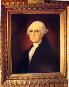 Portrait Oil Painting on Canvas Attributed to Gilbert Stuart