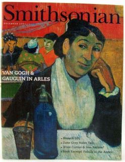 Smithsonian Magazine December 2001 Van Gogh Gauguin