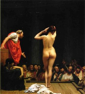 Jean Leon Gerome Painting Repro Selling Slaves in Rome