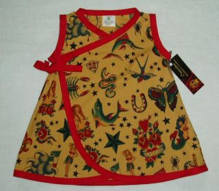 Rockabilly Tattoo Toddler Baby Girl Dress Kids Clothes