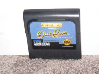 Out Run Europa Sega Game Gear Game