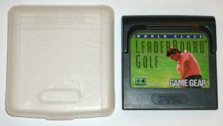 Leader Board Golf   Sega Game Gear Game with Manual   FREE UK P&P