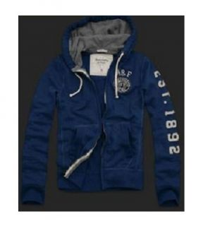 Abercrombie FITCH Blue EMBLEM Hoodie Jacket XL NeW Extra Large Zipper